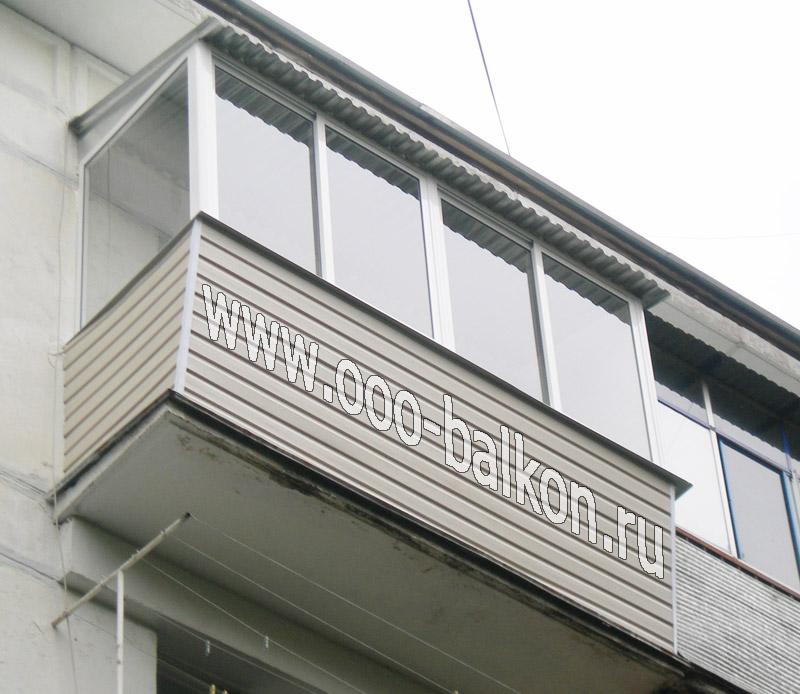 Балкон с крышей и выносом
