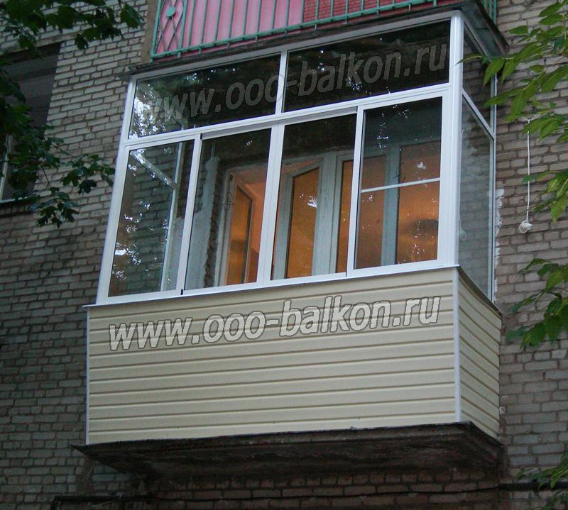 Вынос остекления балкона с