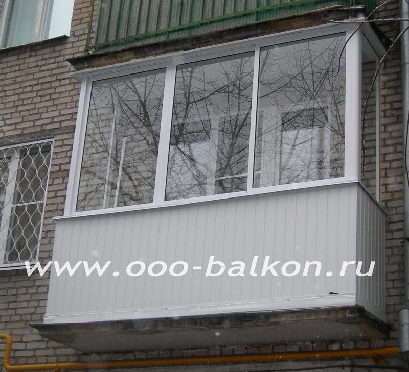 Доступные цены на остекление балконов в хрущёвке..
